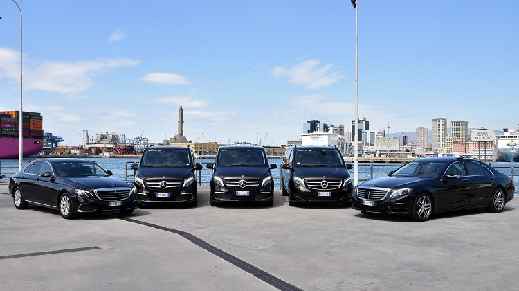 Luxury car rental italy | NCC Genoa for business and private transfers with Top Class Mercedes, S-Class, V-Class, Viano
